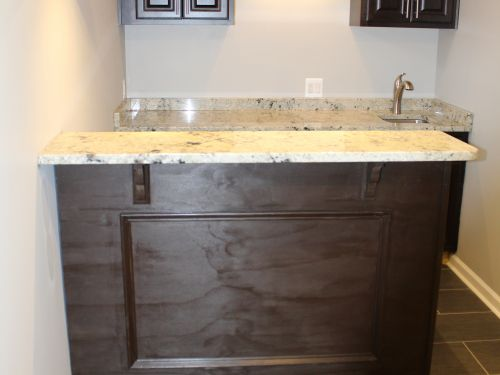 Bar with granite countertops