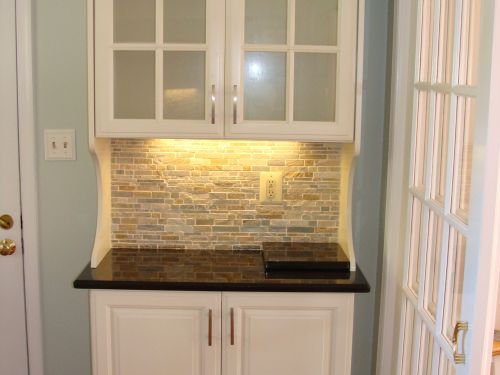 Completed kitchen cabinet remodel