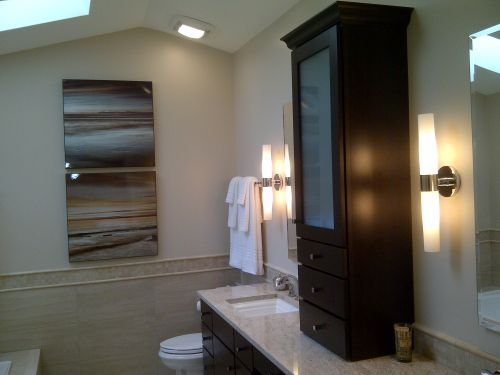 After picture of remodeled bathroom interior