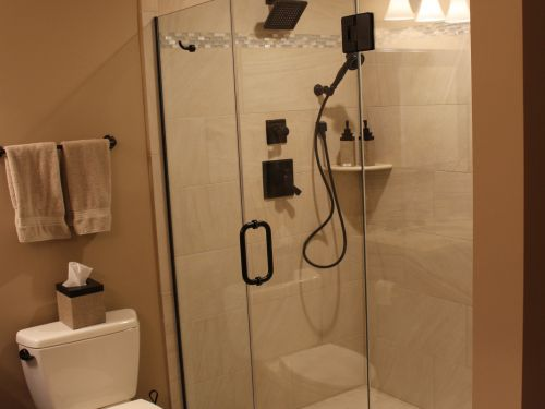 Renovated bathroom shower