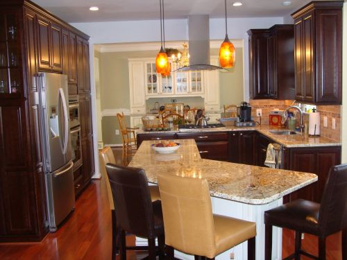View of a remodeled kitchen