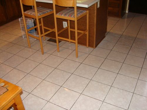 Kitchen flooring before image