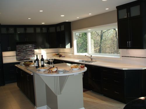 Completed kitchen remodeling project